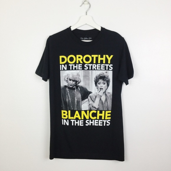 Golden Girls Dorothy In The Streets Blanche Short Sleeve Black Tee New T-Shirt